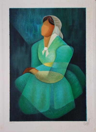 Louis TOFFOLI - Tribute to Vermeer, original signed lithograph