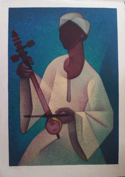 Louis TOFFOLI (1907-1999) - The Nubian, original signed lithograph