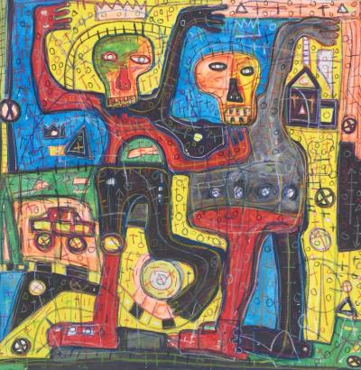Rodrigue « Obodjé » Kouamé - Les guides anciens - 2018 - Basquiat extended