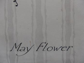 ART DECO : May Flower, Aquarelle originale (c.1920/30) 4