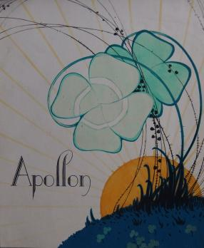 ART DECO : Apollon, Aquarelle originale (c.1920/30) 1
