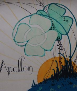 ART DECO : Apollon, Aquarelle originale (c.1920/30) 2
