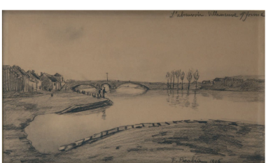 Francis PICABIA - « Lanscape », 1906, Signed drawing