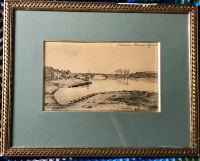 Francis PICABIA - Lanscape , 1906, Signed drawing