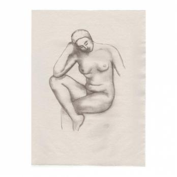 Aristide MAILLOL  - Jeanne assise, Lithographie 2