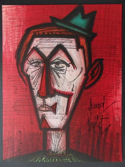 Bernard BUFFET - Le Clown rouge, 1967, Lithographie originale signée