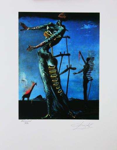 Salvador DALI (1904-1989) (after) Lithograph edited in 1988 by Jobin Paris