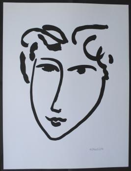 Henri MATISSE (d'après) - Femme au doux visage, Lithographie signée - Art  Moderne - Plazzart