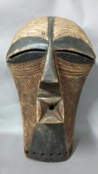 CONGO, Songyé - Kifwebe dance mask with cubist proportions