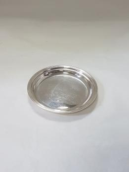 Bottle coaster in solid silver, filet model