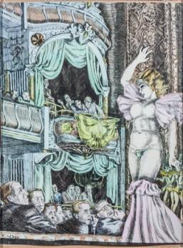 Reginald MARSH (1898-1954) - Burlesque dancer, The show, Aquarelle et encre signée 2