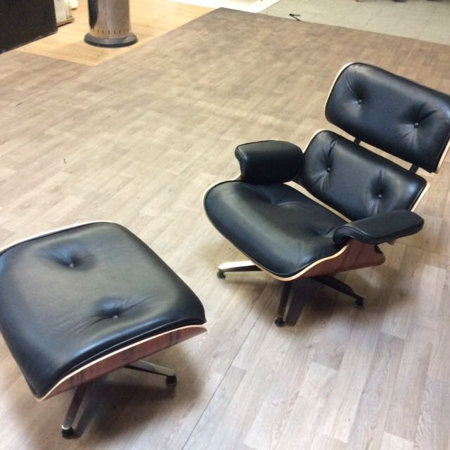 Charles eames fauteuil eames ottoman mobilier du for Mobilier charles eames