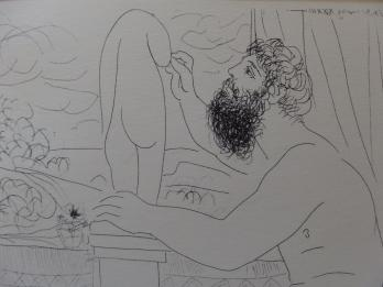 Pablo PICASSO (d'après) - Sculptor Seated by a Window, Working from a Model, Lithographie 47