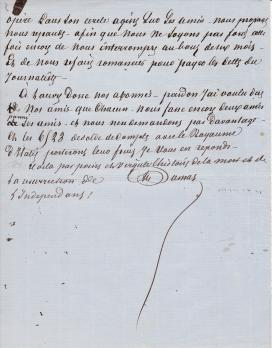 Alexandre Dumas (Father): Autograph signed manuscript on the unification of Italy