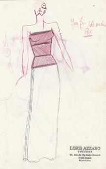 Loris AZZARO - Original drawing by the great designer