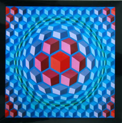 Victor VASARELY - Progression 1 - 1972 Héliogravure