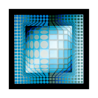 Victor VASARELY - Progression 3 - 1974 Héliogravure