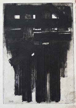 Pierre Soulages : Eau-forte III, 1956, original signed etching