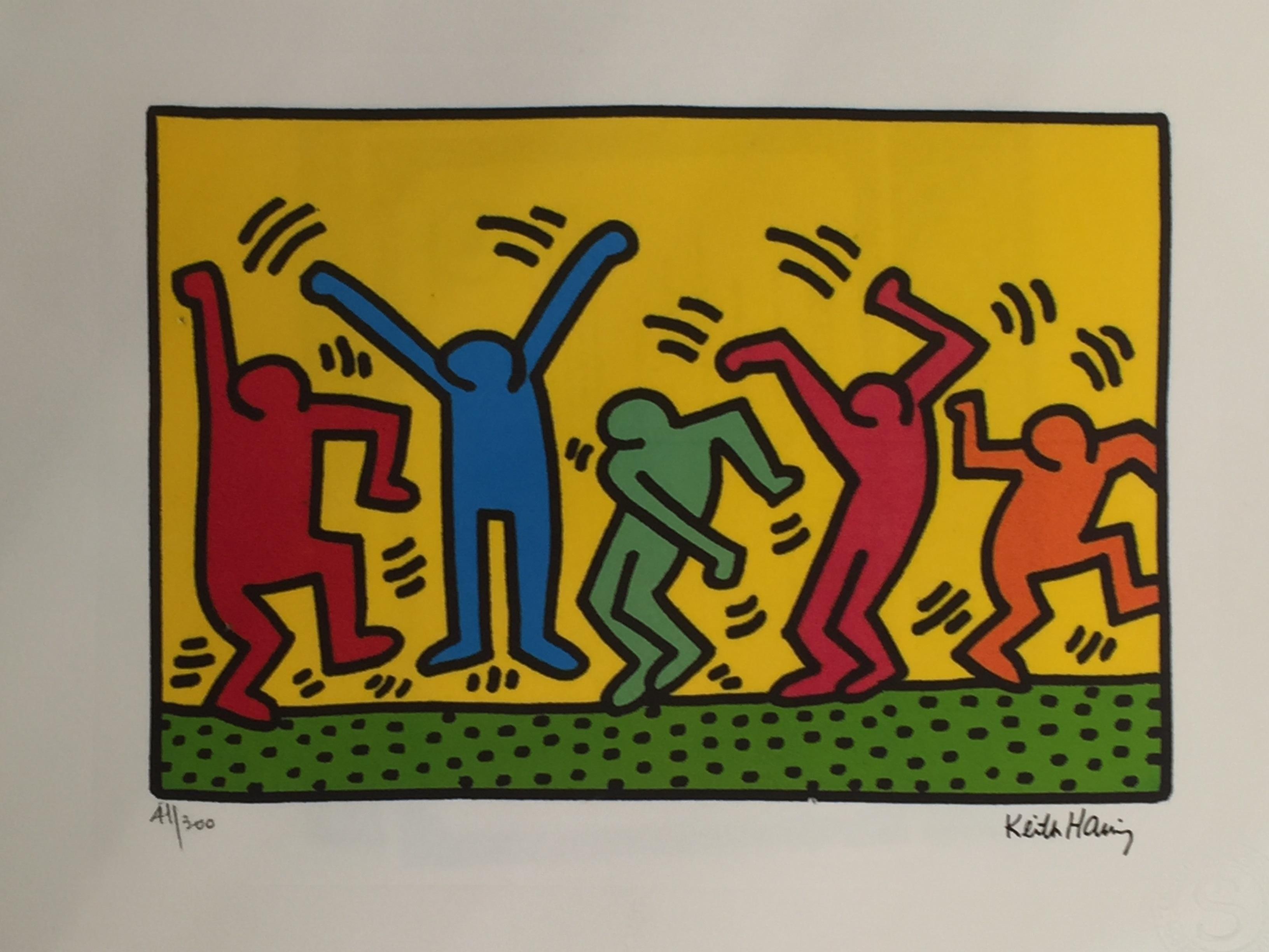 Keith Haring - Figures dancing - Contemporary Art - PrivateLot.com