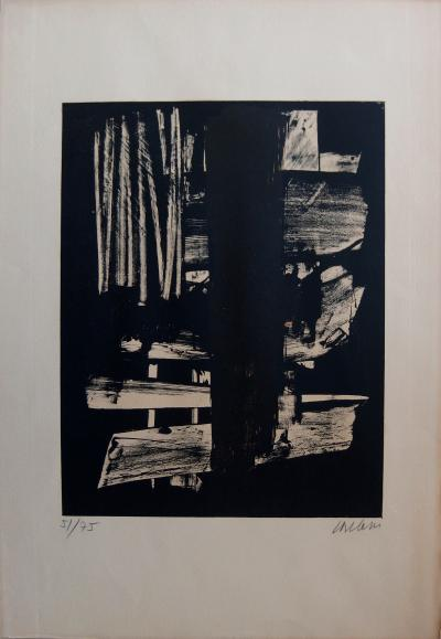 Pierre SOULAGES Lithograph n°9