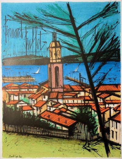 Remarkable Bernard Buffet Saint Tropez Original Signed Lithograph Interior Design Ideas Inesswwsoteloinfo