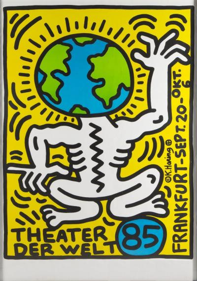 Keith HARING  - Theater Der Welt, original signed screen print, 1985