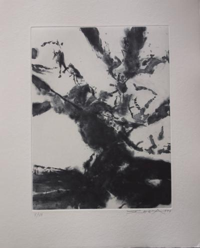 Zao WOU-KI - But why don't you use..., 1994, original aquatint engraving, signed