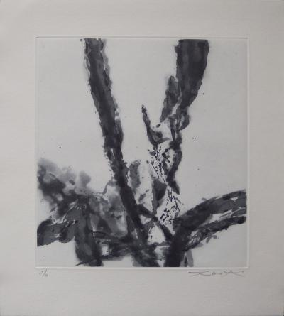 Zao WOU-KI - Abstract composition, 1996, original signed engraving
