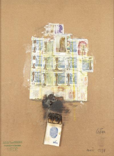 CESAR (BALDACCINI, César dit ) - Combustion of matches and stamps, 1998
