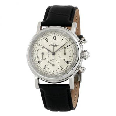 HERITAGE - MECHANIC CHRONOGRAPH 42 MM - STEEL ON LEATHER
