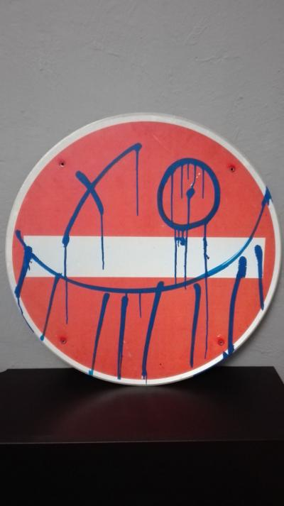 ANDRE - Mr A, 2006 - Painting on raod sign
