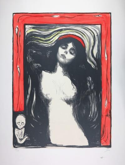 EDVARD MUNCH - LA MADONE / MADONNA 1895 - LITHOGRAPH SIGNED & NUMBERED