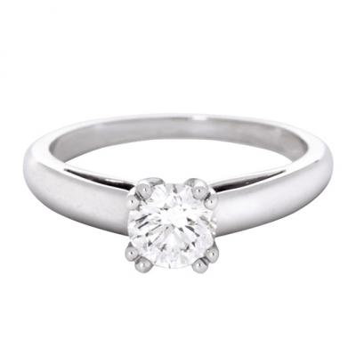 bague solitaire or blanc mauboussin