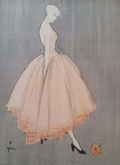 Ren gruau dior illustration pour la maison de haute couture dior mode accessoires - Couture pour la maison ...
