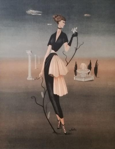 André Barlier - Illustration for the haute couture house Dior