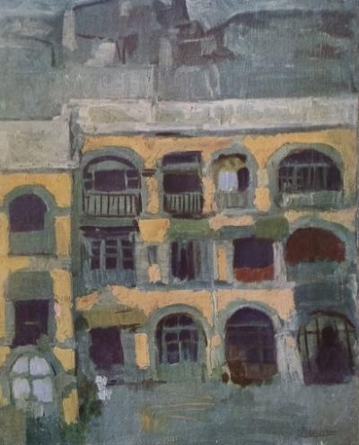 pablo picasso d 39 apr s la maison bleue 1902 du peintre. Black Bedroom Furniture Sets. Home Design Ideas