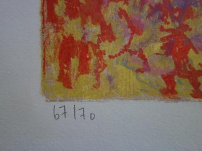 e652ac8525f KLEIN   Chevaux au soleil rouge - Lithographie originale Signée ...