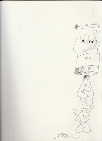 ARMAN, Drawing in black felt tip, Signed