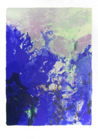 ZAO Wou-Ki - Barcelona Olympic Games, 1992 - Lithograph signed in pencil