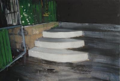 Philippe Pasqua - The zone, the steps - Acrylic on canvas - Signed