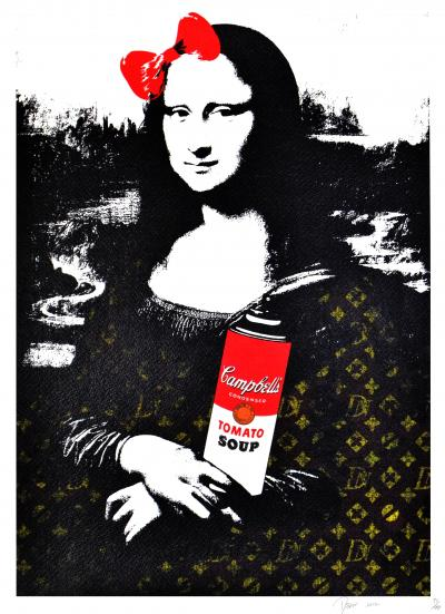 Death NYC - Mona Red Bomb - Original screenprint signed and numbered - (Edition limited of 100 proofs)