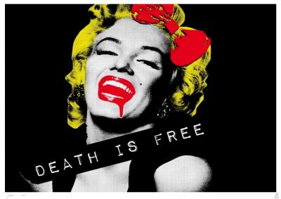 Death NYC - Monroe DIF Black - Original screenprint signed and numbered - (Edition limited of 100 proofs)