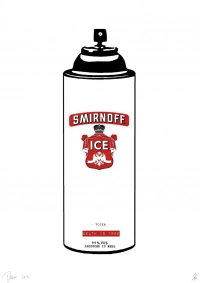 Death NYC - Smirnoff Spray Red - Original screenprint signed and numbered - (Edition limited of 100 proofs)