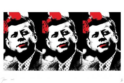 Death NYC - 3 JFK - riginal screenprint signed and numbered - (Edition limited of 100 proofs)