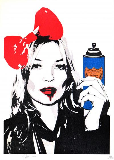 Death NYC - Kate Drunk Bomb - Original screenprint signed and numbered - (Edition limited of 100 proofs)