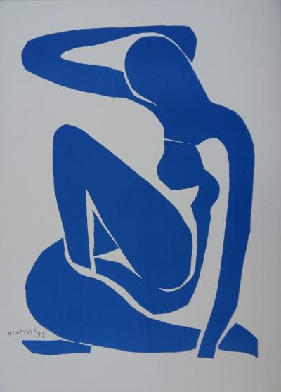 Henri MATISSE (1869-1954) - Blue seated nude, Lithograph