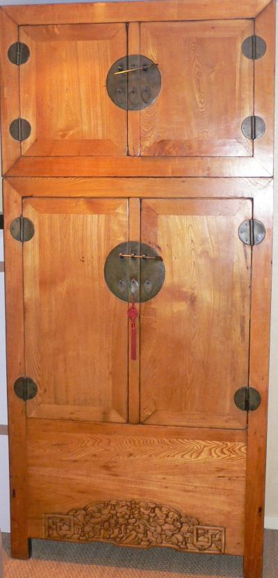 China, end of 19th century, Rare elm tree cabinets 2