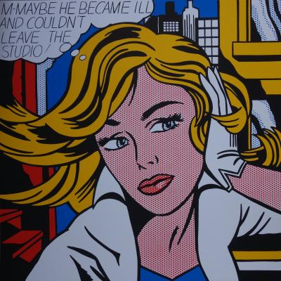 Roy Lichtenstein (d'après) : May be Girl  - Sérigraphie