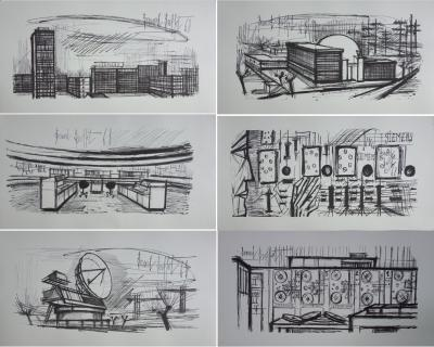 Bernard Buffet : Science et technique - Suite de 6 lithographies