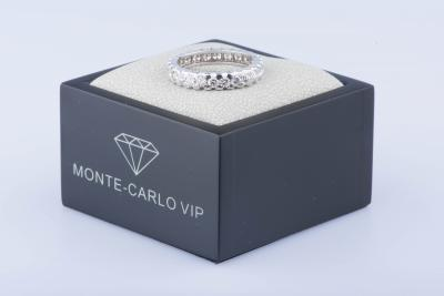 Bague en or blanc 18 ct 26 diamants env. 1,56 ct au total 2